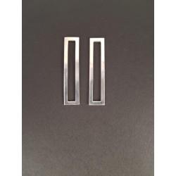 boucles d'oreilles argent 925 rectangle ajouré