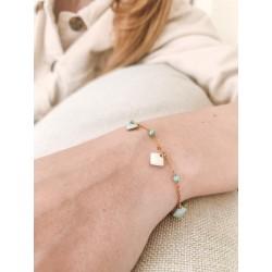 Bracelet Luka bleu avec ses petites pampilles losanges