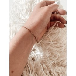 Bracelet Milann chaine perle marron