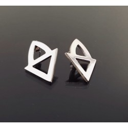 Magnifique boucles d'oreilles en argent forme triangle