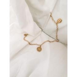 Bracelet acier inoxydable doré Hélio
