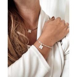 Bracelet et collier porte bonheur trèfle à 4 feuiles