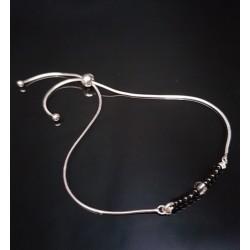 Bracelet plage perles de rocailles noires